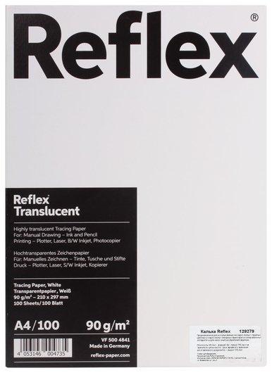 Калька REFLEX А4, 90 г/м, 100 листов, Германия, белая  Reflex