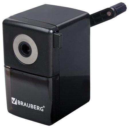 """Точилка механическая Brauberg """"Black Jack"""", металлический механизм, цвет чёрный  Brauberg"""