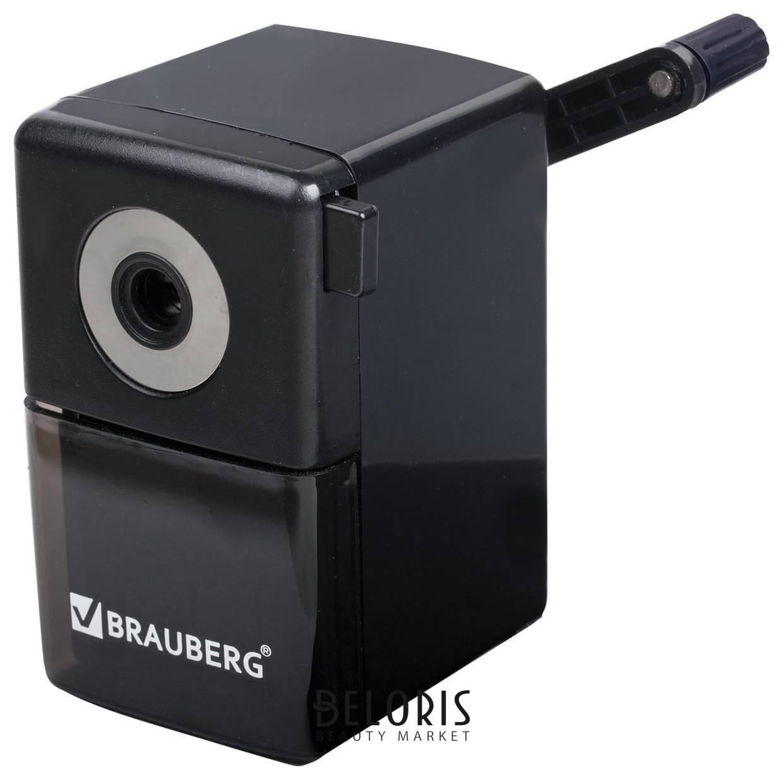 Точилка механическая Brauberg Black Jack, металлический механизм, цвет чёрный Brauberg