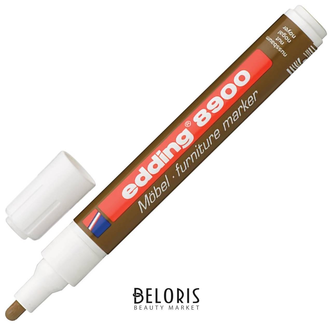 Маркер лаковый для мебели Edding 8900, 1,5-2 мм, грецкий орех светлый, нитро-основа  Edding