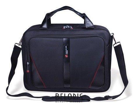 Сумка деловая Brauberg Business, 32х41х15 см, отделение для планшета и ноутбука 15,6, ткань, черная Brauberg