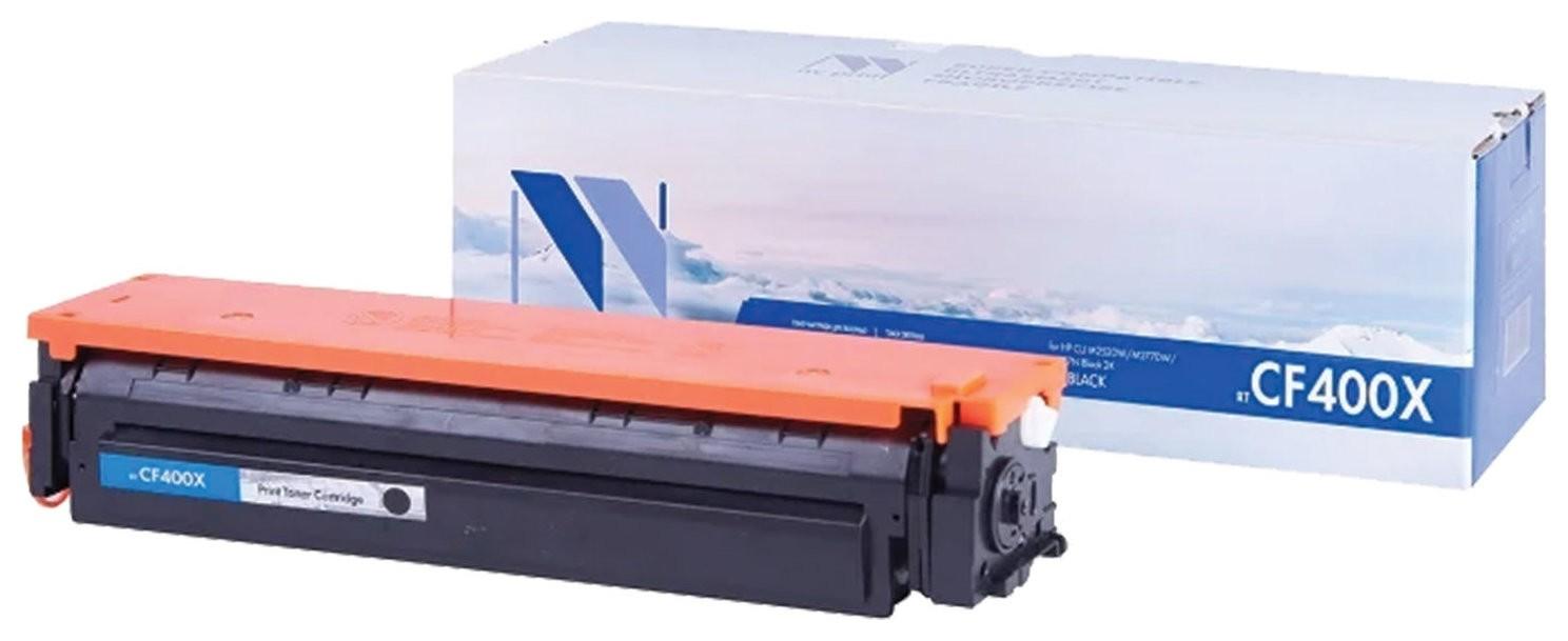 Картридж лазерный Nv Print (Nv-cf400x) для Hp M252dw/m274n/m277dw, черный, ресурс 2800 стр.  Nv print