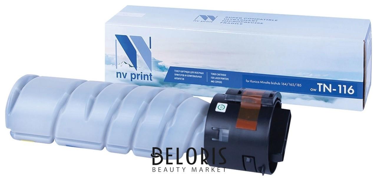 Тонер-картридж лазерный Nv Print (Nv-tn-116) для Konica Minolta 164/165/185, ресурс 9000 стр. Nv print