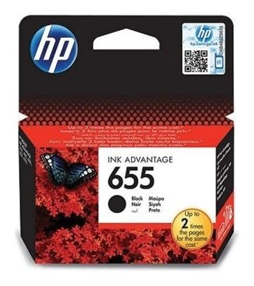 Картридж струйный Hp (Cz109ae) Deskjet Ink Advantage 3525/5525/4515/4525 №655, черный, оригинальный  Hp