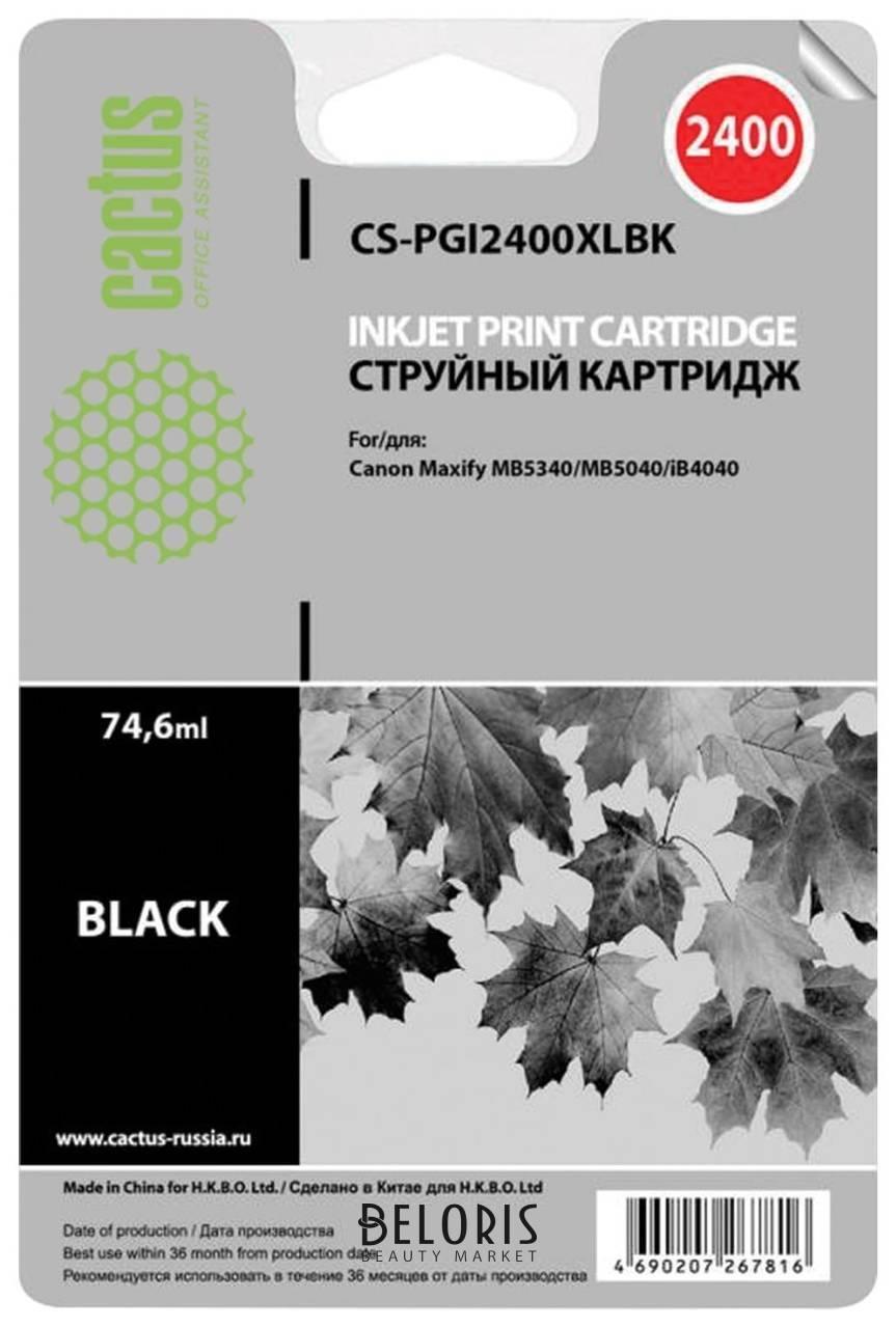 Картридж струйный Cactus (Cs-pgi2400xlвк) для Canon Ib4040/mb5040/mb5340, черный, ресурс 2500 стр.  Cactus