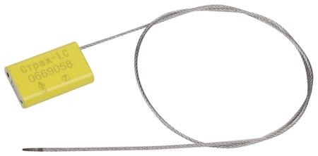Пломбы металлические тросовые, диаметр 1,5 мм, длина 500 мм, комплект 10 шт.  КНР