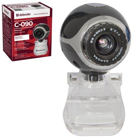 Веб-камера Defender C-090, 0,3 мп, микрофон, Usb 2.0, регулируемое крепление, черная  Defender