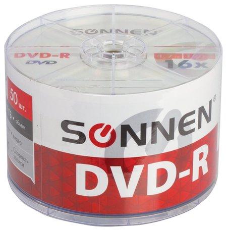 Диски Dvd-r Sonnen 4,7 Gb 16x Bulk, комплект 50 шт.  Sonnen