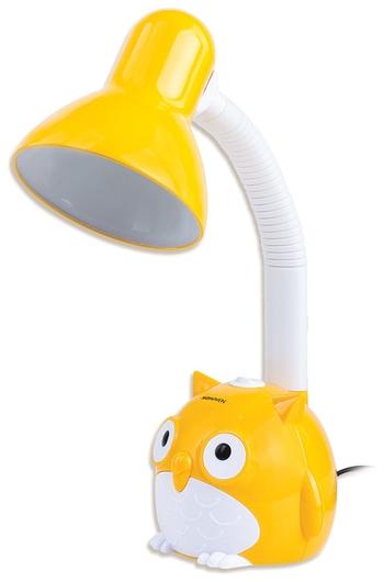 """Светильник настольный SONNEN OU-603, на подставке, цоколь Е27, """"Сова"""", желтый   Sonnen"""