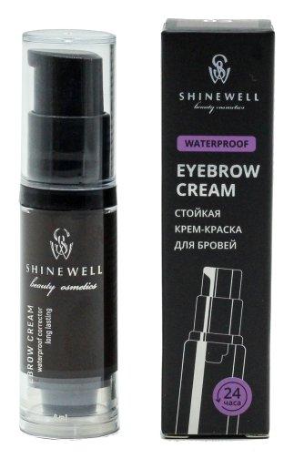 Крем-краска для бровей Eyebrow Cream Waterproof  Shinewell