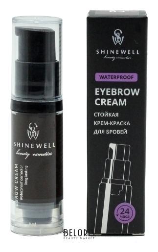 Крем-краска для бровей Eyebrow Cream Waterproof Shinewell Brow Secret