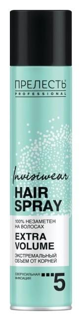 Лак для волос невесомый Экстремальный объем Invisiwear  Прелесть
