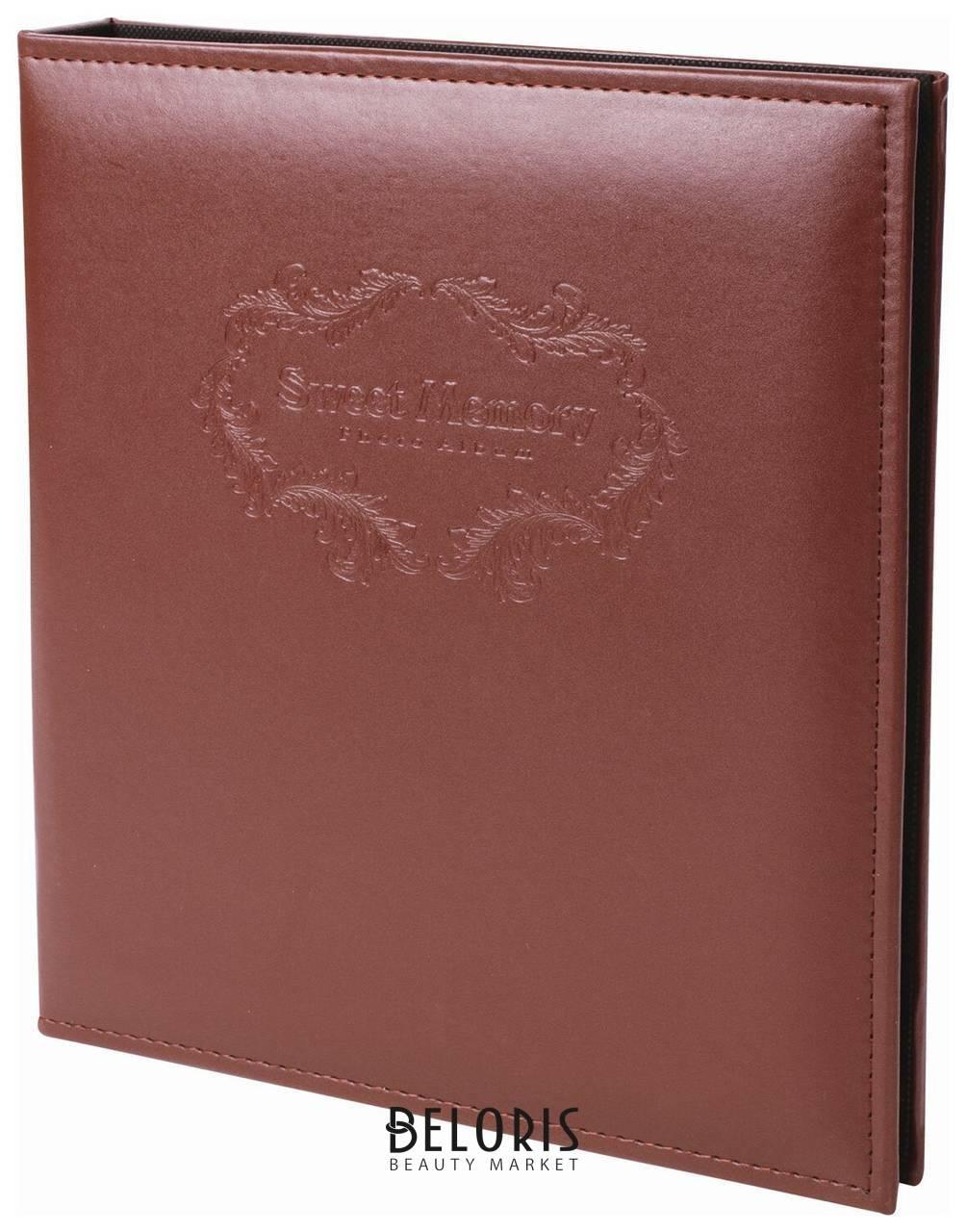 Фотоальбом BRAUBERG на 20 магнитных листов, 23х28 см, под гладкую кожу, на кольцах, коричневый Brauberg