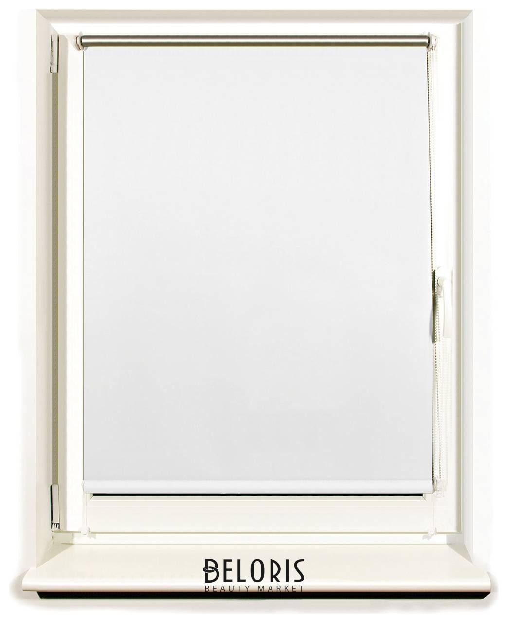 Штора рулонная светонепроницаемая (Блэкаут) BRABIX 100х175 см, белый/серебро Brabix