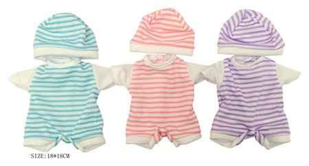 Одежда для куклы 3 вида в пакете 18*18 см  КНР Игрушки