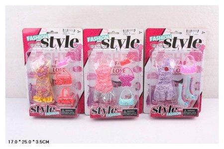 """Набор """"Одежда для кукол 29 см, обувь, аксессуары 3 вида"""" в картоне  КНР Игрушки"""