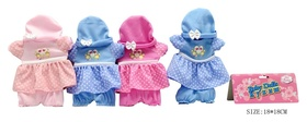 Одежда для куклы 4 вида в пакете 18*18 см  КНР Игрушки