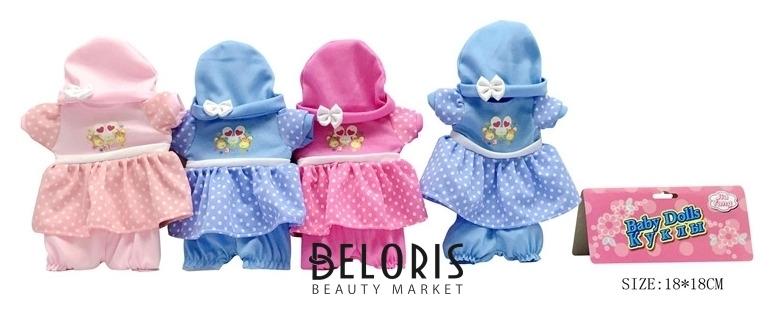 Одежда для куклы Платье, шапочка и шорты КНР Игрушки