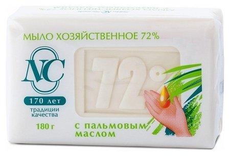 Хозяйственное мыло 72% с пальмовым маслом  Невская косметика