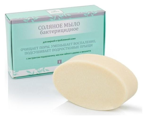 Соляное мыло бактерицидное для жирной и проблемной кожи  Kleona