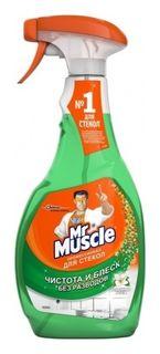 Средство для мытья стекол с нашатырным спиртом  Mr. Muscle