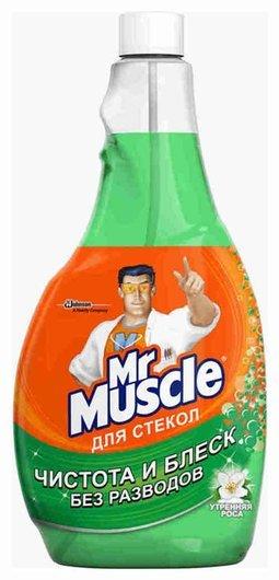 "Средство для мытья стекол ""Утренняя роса"" (сменная бутылка)  Mr Muscle"