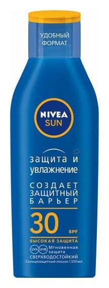 Солнцезащитный лосьон Защита и увлажнение SPF 30  Nivea