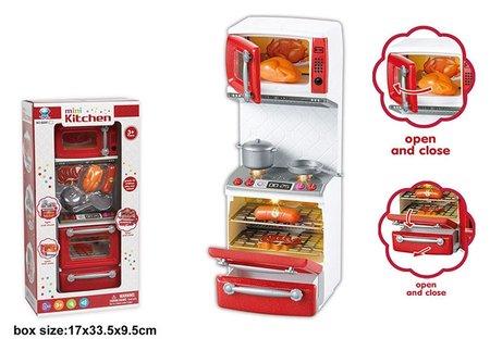 Кухонная мебель с плитой и аксессуарами (свет, звук)  КНР Игрушки