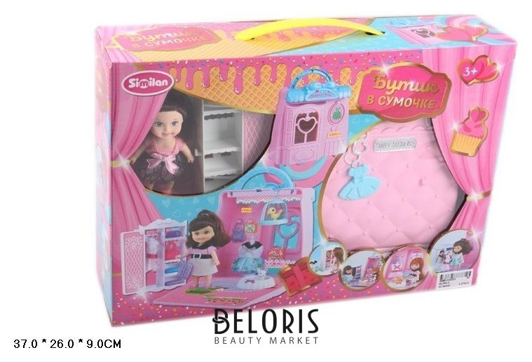 Набор Бутик в сумочке с куклой и мебелью Similan