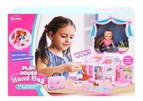 Домик-саквояж с куклой и мебелью