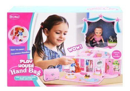Домик-саквояж с куклой и мебелью  Similan