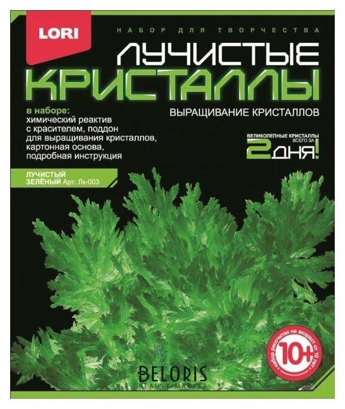 Набор для творчества Зеленый кристалл Lori Лучистые кристаллы
