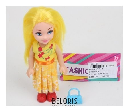 Куколка с желтыми волосами КНР Игрушки