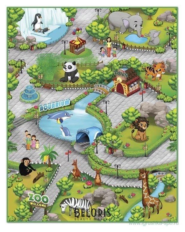 Игровой коврик Зоопарк 3D Knopa
