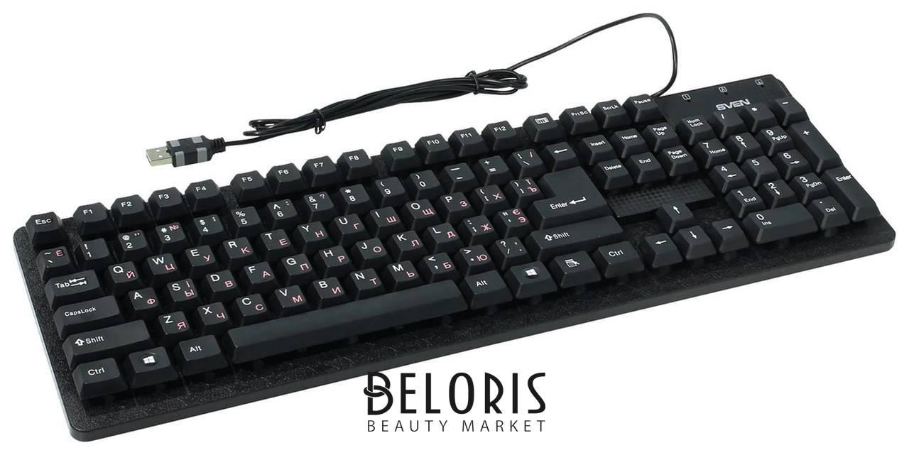 Клавиатура проводная Sven Standard 301, Usb, 104 клавиши, чёрная  Sven