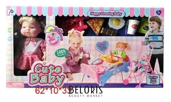 Набор Кукла с аксессуарами Cute Baby КНР Игрушки