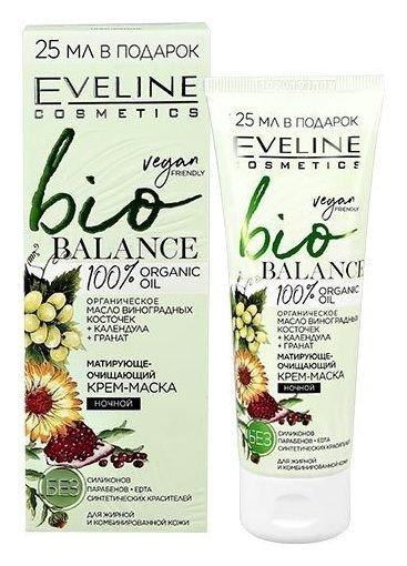 Крем-маска матирующе-очищающий ночной  Eveline Cosmetics