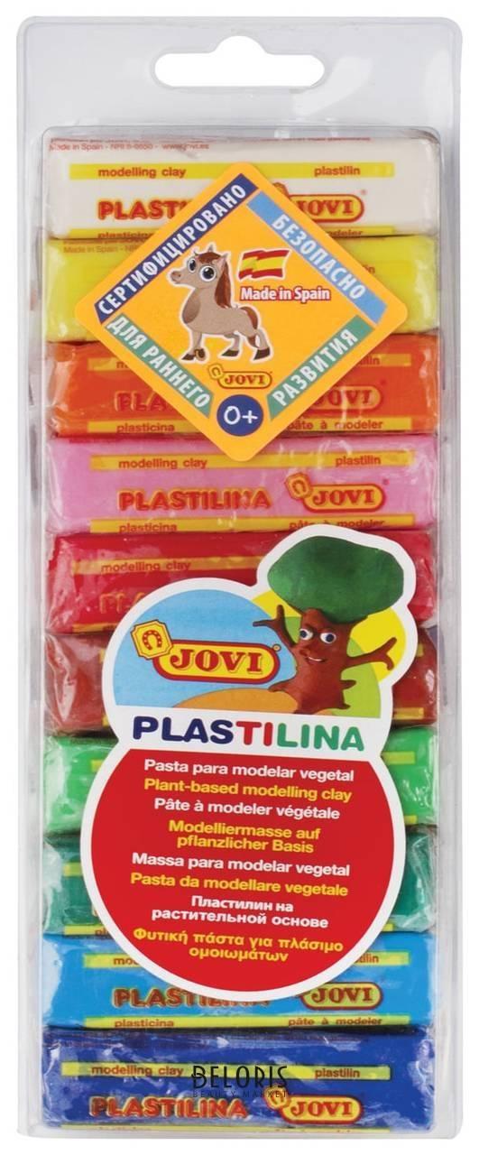 Пластилин на растительной основе, 10 цветов, 250 г Jovi