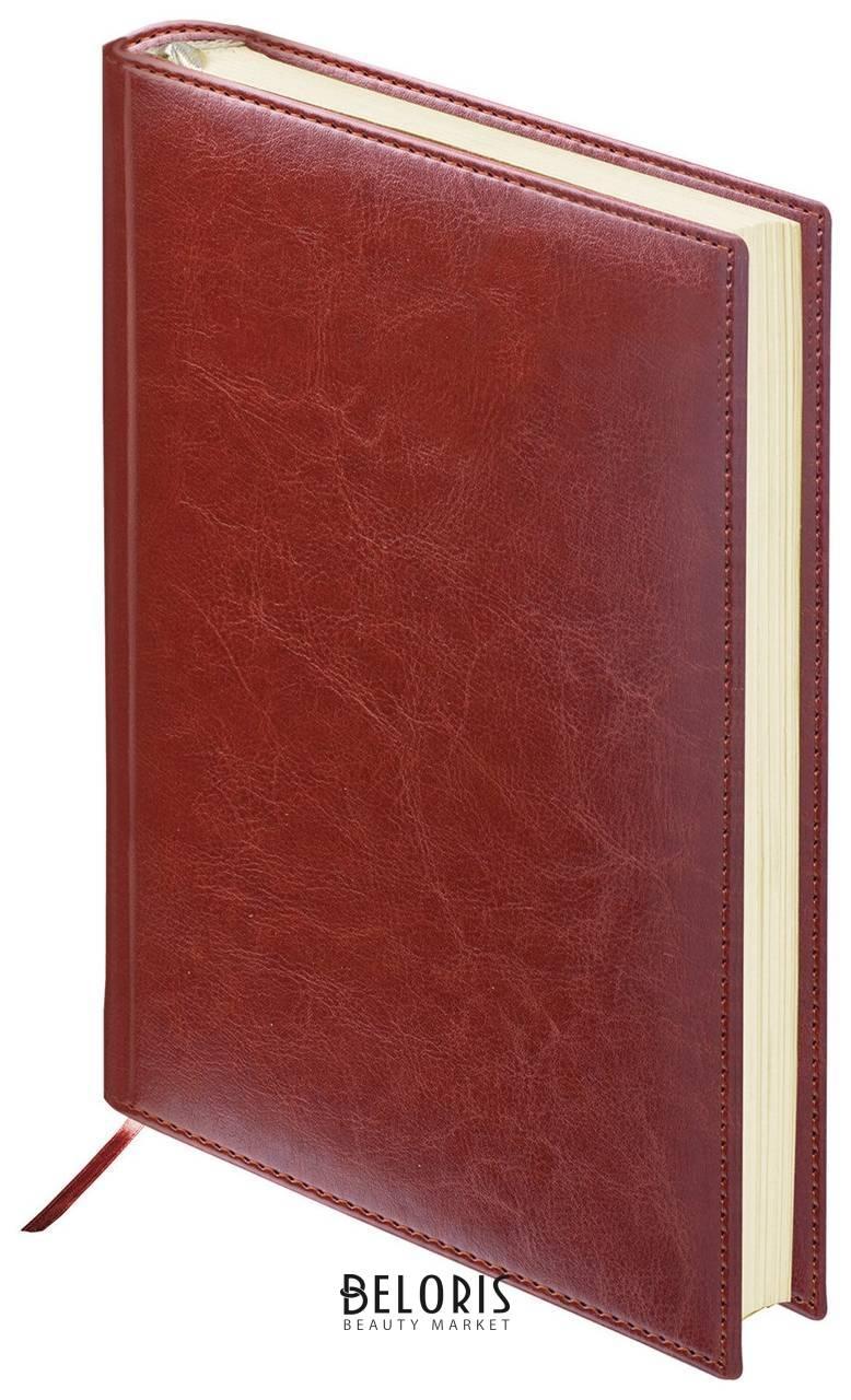 Ежедневник недатированный малый формат (100х150 мм) А6, Brauberg Imperial, под гладкую кожу, 160 л., коричневый Brauberg