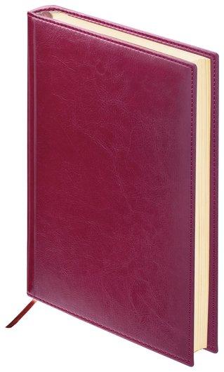 "Ежедневник недатированный малый формат (100х150 мм) А6, Brauberg ""Imperial"", под гладкую кожу, 160 л., бордовый  Brauberg"