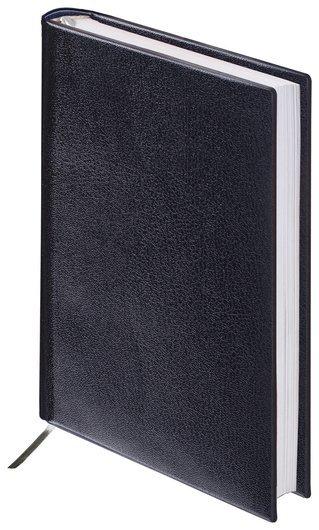 "Ежедневник недатированный малый формат (100х150 мм) А6, Brauberg ""Select"", балакрон, 160 л., черный  Brauberg"