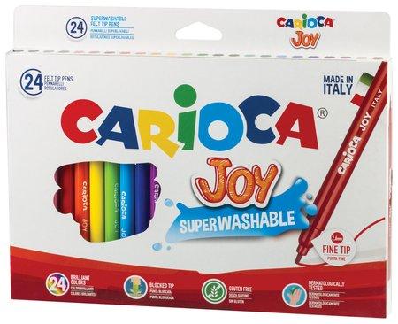 """Фломастеры Carioca """"Joy"""", 24 цвета, суперсмываемые, вентилируемый колпачок, картонная коробка  Carioca"""