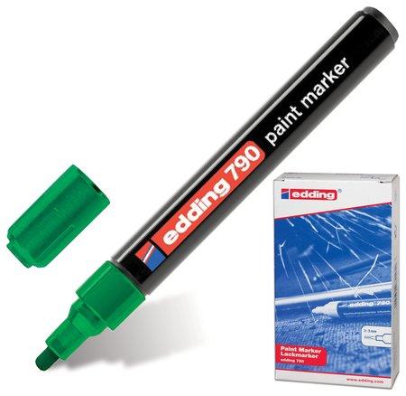 """Маркер-краска лаковый Edding """"790"""", 2-4 мм, зеленый, круглый наконечник, пластиковый корпус   Edding"""