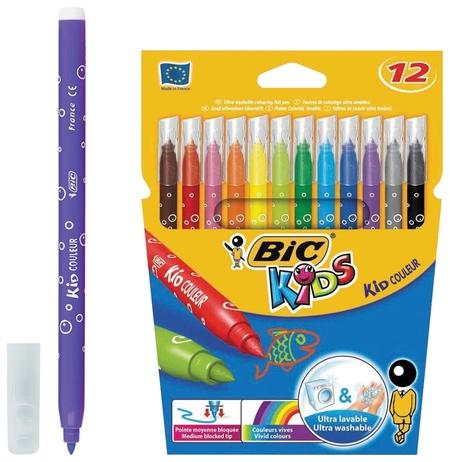 Фломастеры Kid Couleur 12 цветов  BIC