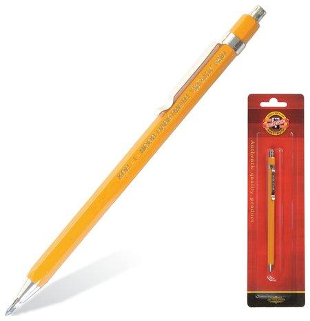 Карандаш механический Koh-i-noor, корпус желтый, цанговый, точилка, 2 мм  Koh-i-noor