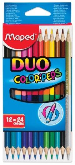 Карандаши цветные 24 цвета Duo  Maped