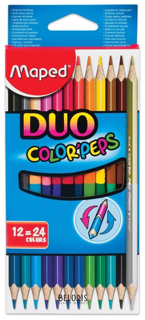 Карандаши цветные 24 цвета Duo Maped Color'peps