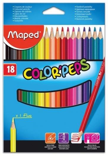 Карандаши цветные 18 цветов Color Pep's  Maped