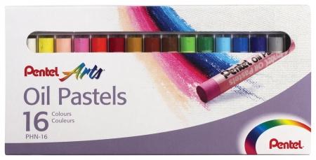 """Пастель масляная художественная Pentel """"Oil Pastels"""", 16 цветов, круглое сечение, картонная упаковка   Pentel"""