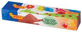Краски пальчиковые 5 цветов на водной основе в баночках  Jovi